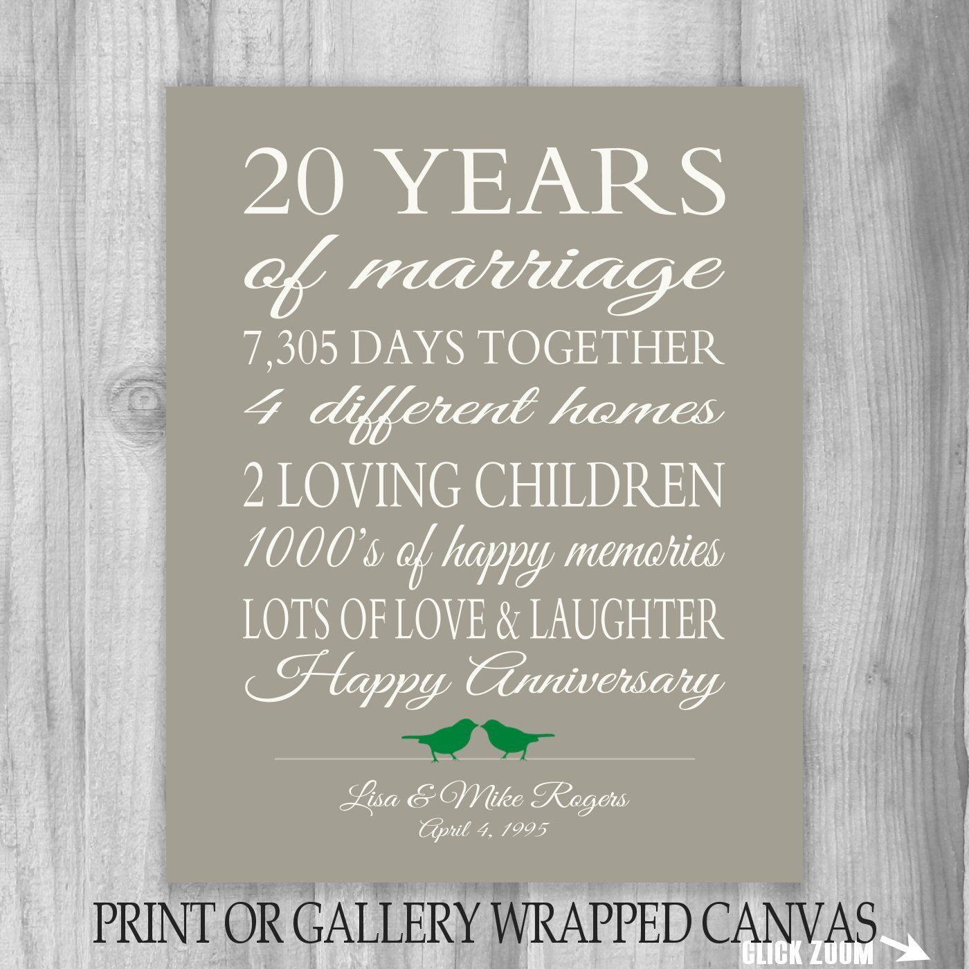 20 Year Wedding Anniversary Gift Ideas: Pin By Kathy Morris On Gifts