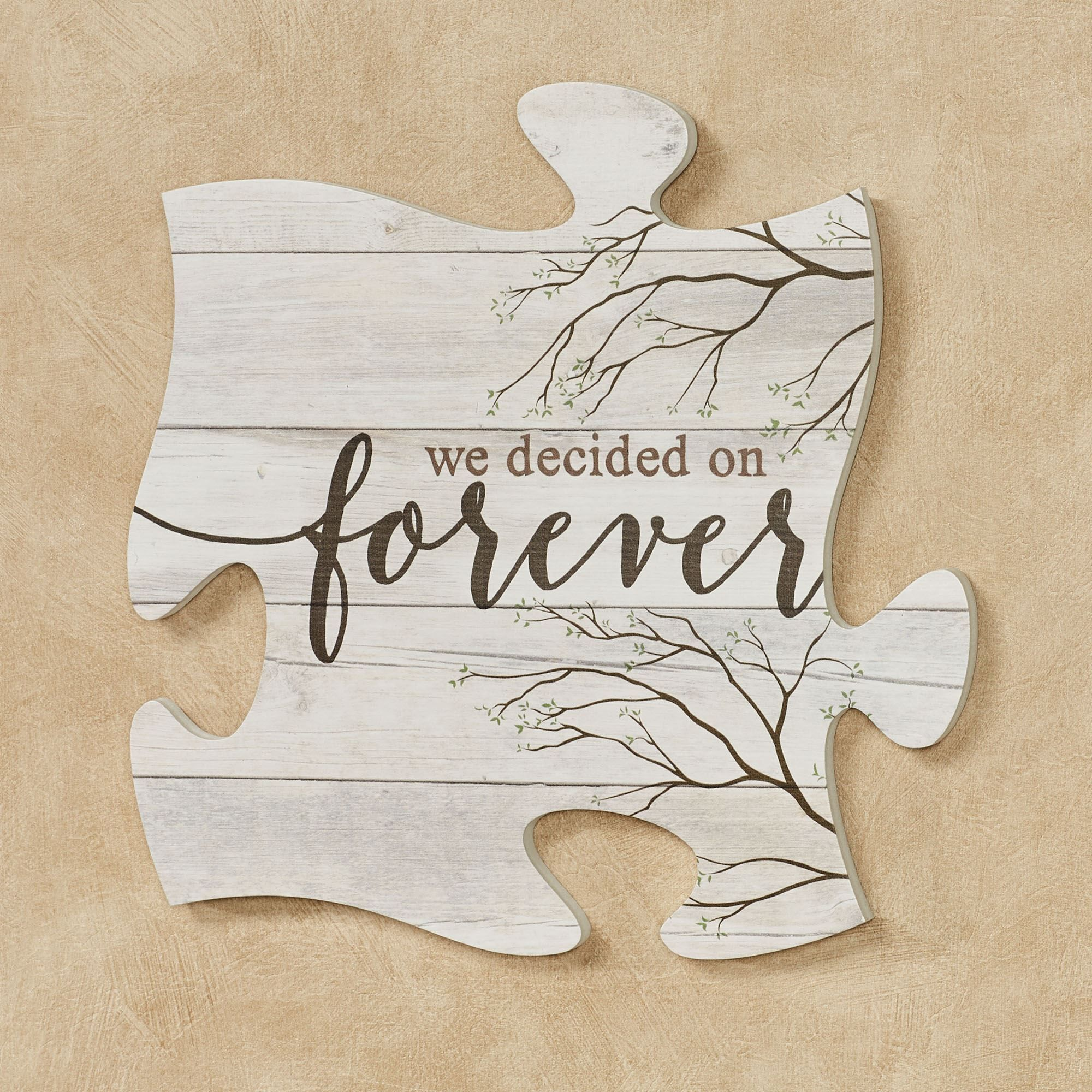 We Decided On Forever Quote Puzzle Piece Wall Art Diy Wall Art Quotes Puzzle Piece Crafts Puzzle Piece Art