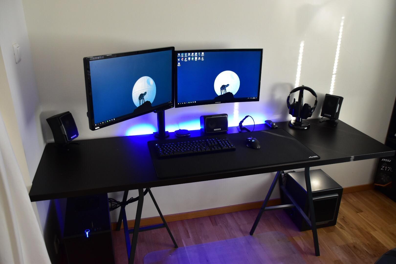 20 Blue Themed Gaming Setups Ideas Gaming Setup Setup Room Setup