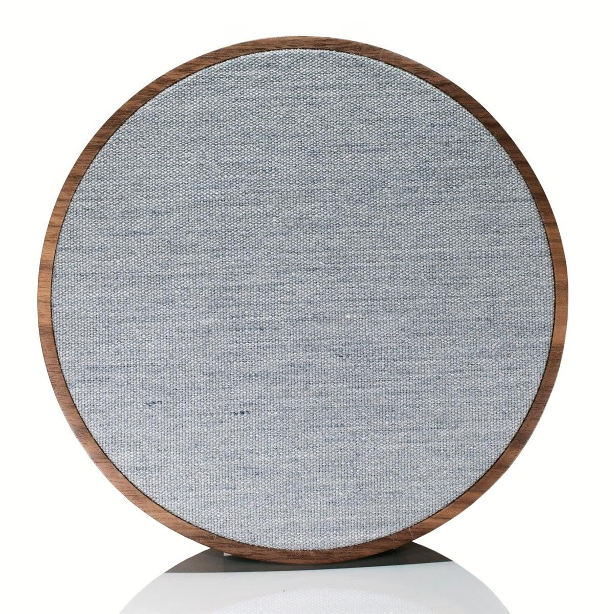 Tivoli Audio ORB Wireless Speaker- Walnut/Grey. CONNECTIVITY Wireless Network enabled (Wi-Fi), Bluetooth® wireless connectivity. 3.5mm Auxiliary Input. Easily connect each speaker to your home network using SAC technology, Connect a multitude of speakers on a single network. POWER DC power , Optional rechargeable battery provides up to 8 hours of full playback, making the speaker truly wireless. (Battery not included). Stand included, Keyhole slot for simple hanging, Small compact design...