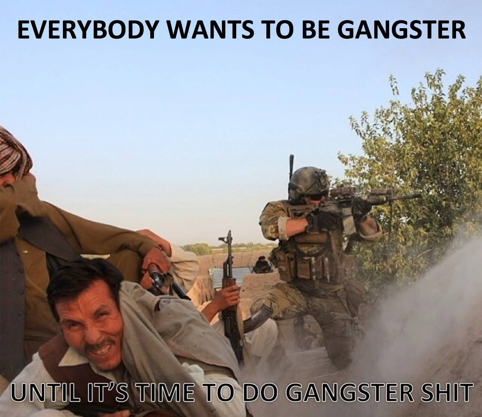 Pic request: everyone's a gangster until it's time to do gangster.... - AR15.COM