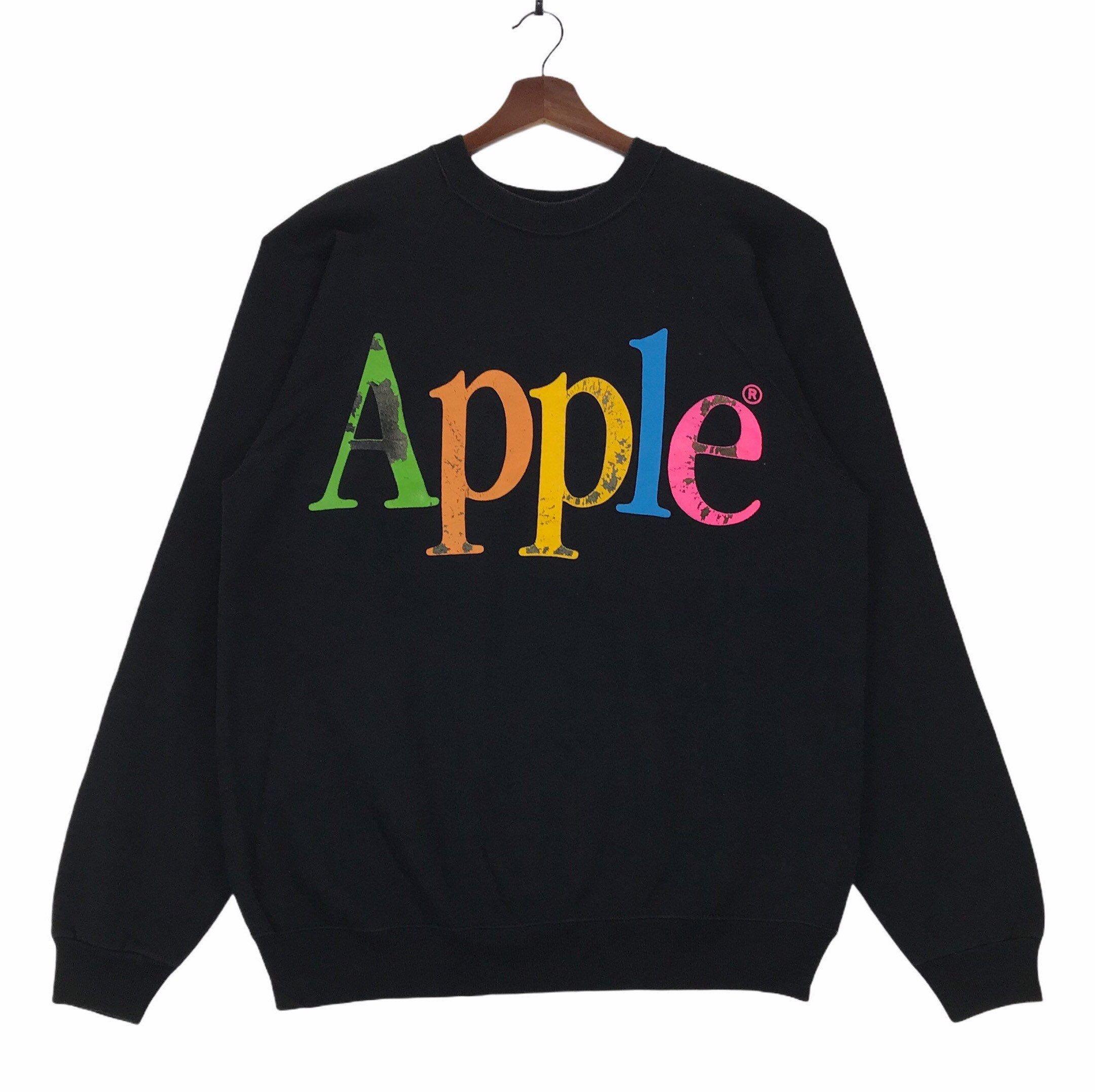 Rare Vintage 80s Apple Crewneck Sweatshirt Spellout Apple Multicolour Xlarge Size Vintage Sweatshirt By Clock Sweatshirts Vintage Sweatshirt Vintage Hoodies [ 2154 x 2160 Pixel ]