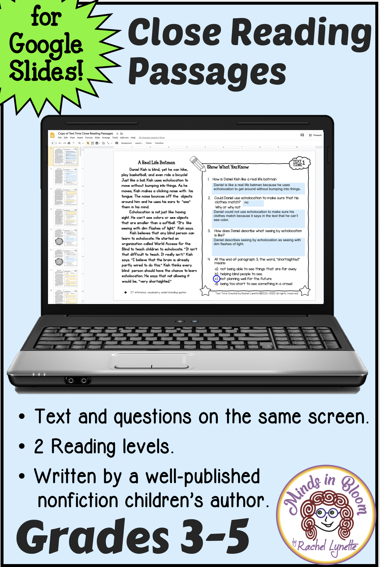 Text Time Close Reading Passages For Google Slides Reading Comprehension Passages Close Reading Comprehension Reading Comprehension [ 1936 x 1298 Pixel ]
