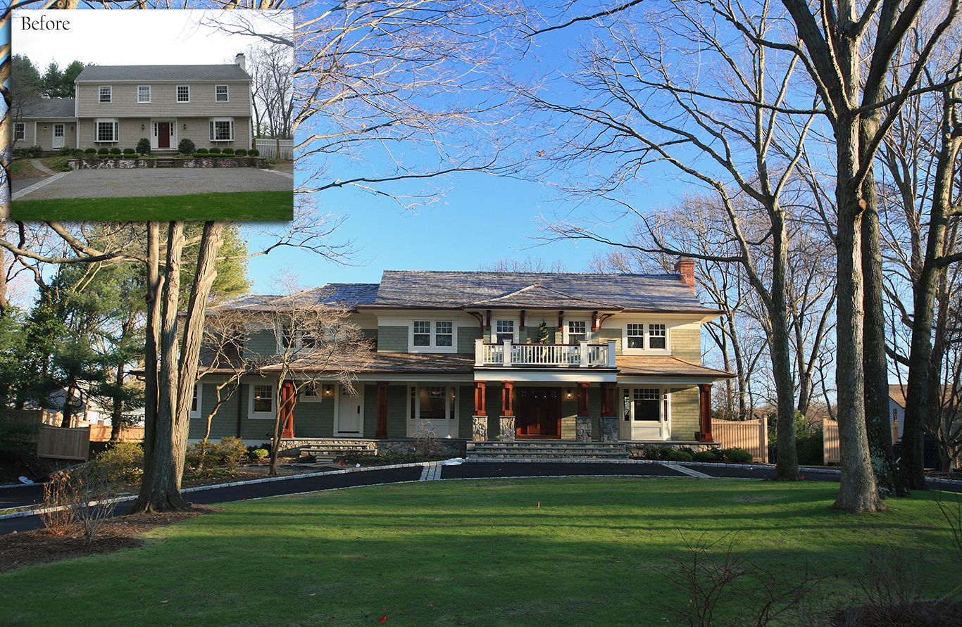 Style home westport ct cardello architects serving westport - Cardello Architects Transformed This Colonial Home Into An Arts Craft Home Some Of The