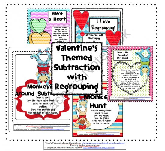 16 pages of Subtraction with Regrouping Activities