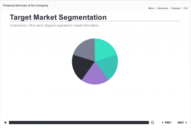 Pie Chart Templates Interactive Pie Chart — Storyline Template #elearning #storyline .