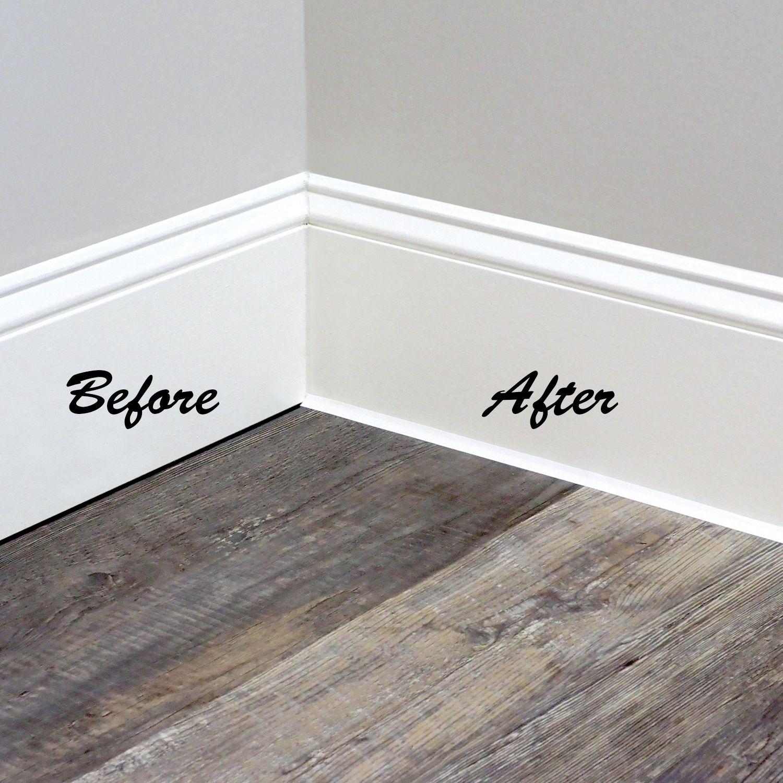 Instatrim 1 2 In Wide White Flexible Trim Molding 10 Ft 2 Pk Walmart Com In 2020 Moldings And Trim White Baseboards Diy Home Repair
