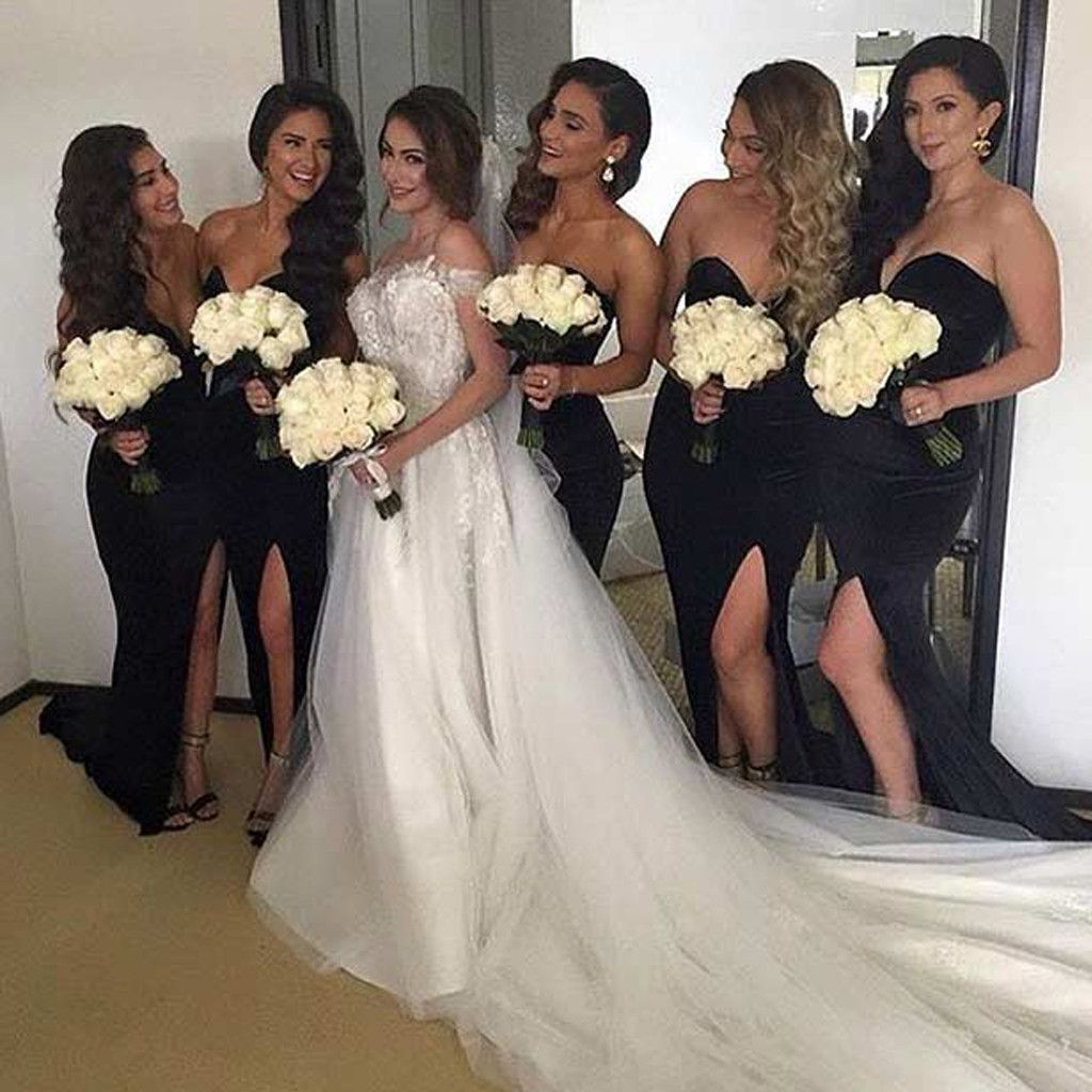 To acquire Bridesmaid Wedding dresses black picture trends