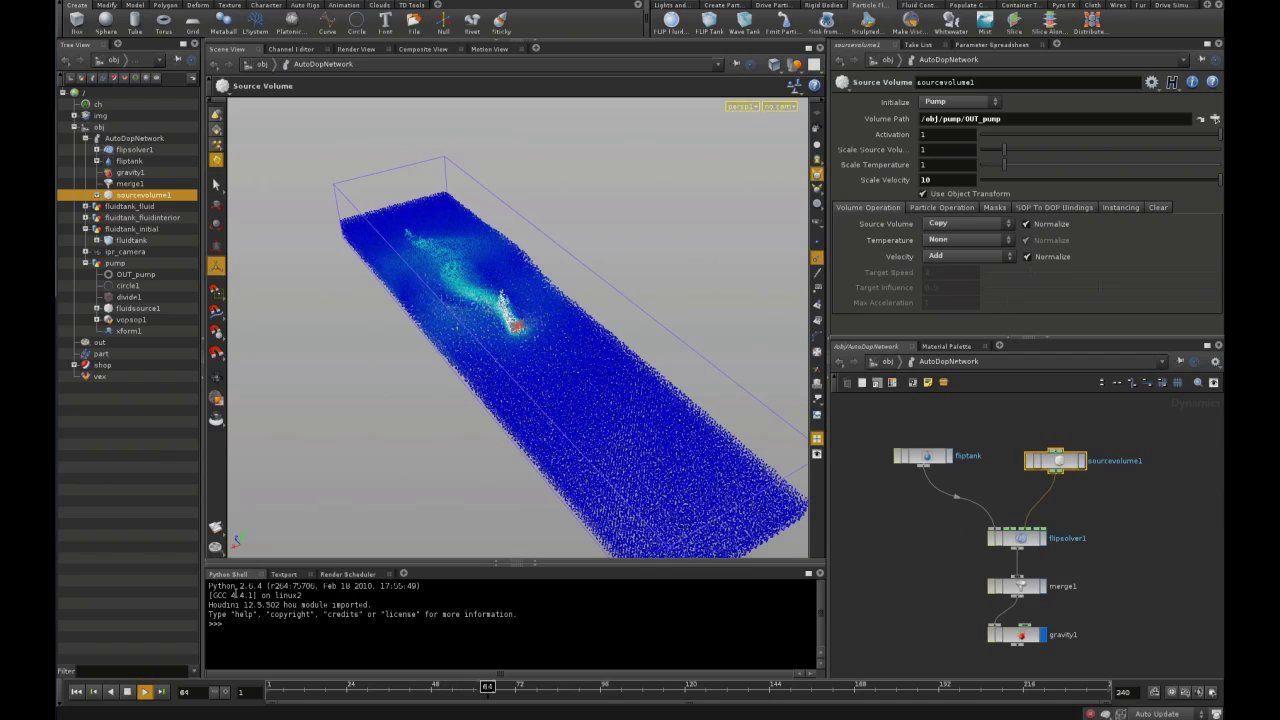 Houdini Liquid Simulation Tutorial 2 - How to create boat
