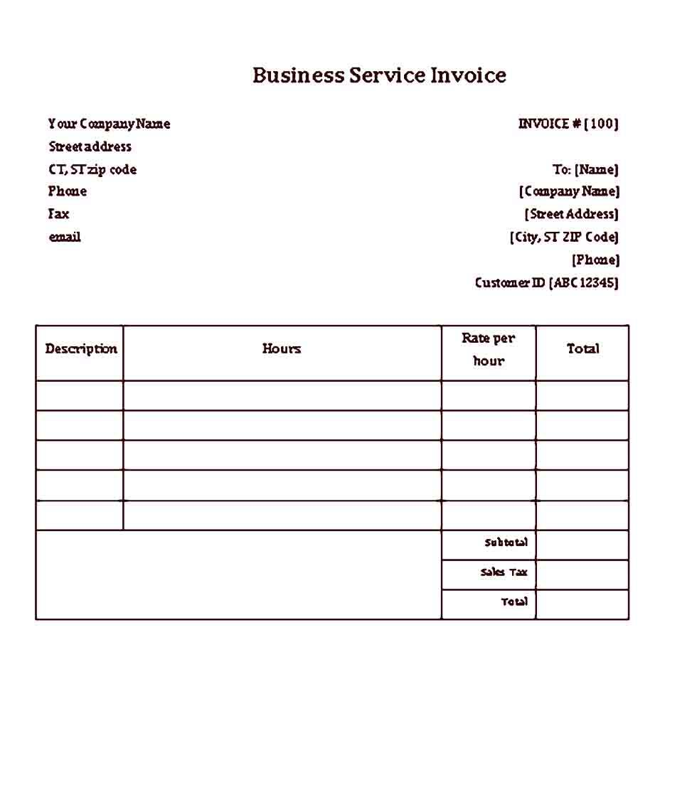 Sample Business Receipt Template