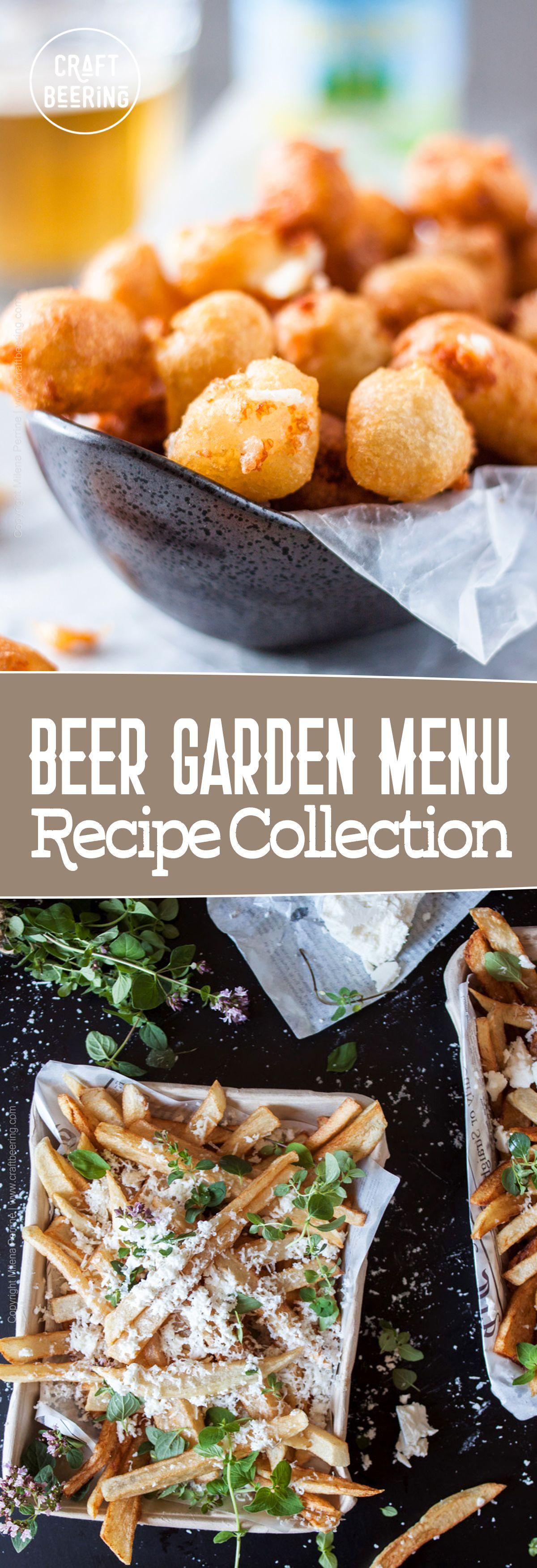 Beer Garden Menu Beer garden, Beer snacks, Light recipes