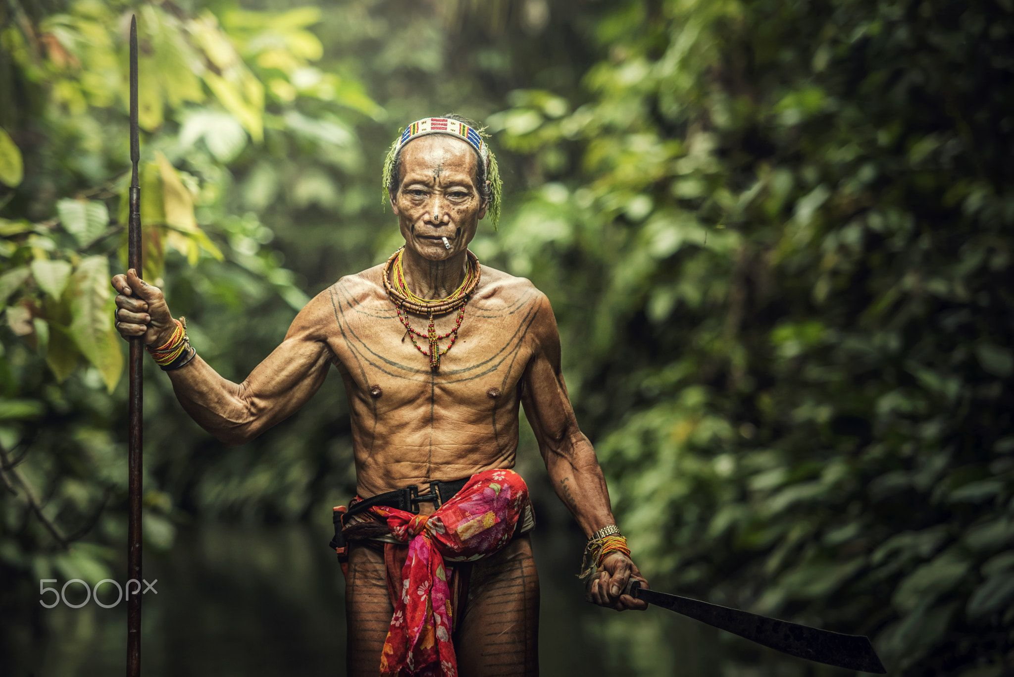 Mentawai Warrior - Mentawai Warrior, Siberut Tribes, Mentawai Island,  Indonesia | Foto zaman dulu, Sketsa tato, Sketsa