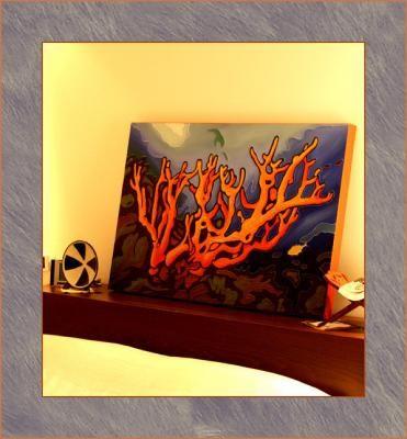 Quadri, paesaggi, FONDALI MARINI; quadro, acrilico, decorativo, in ...