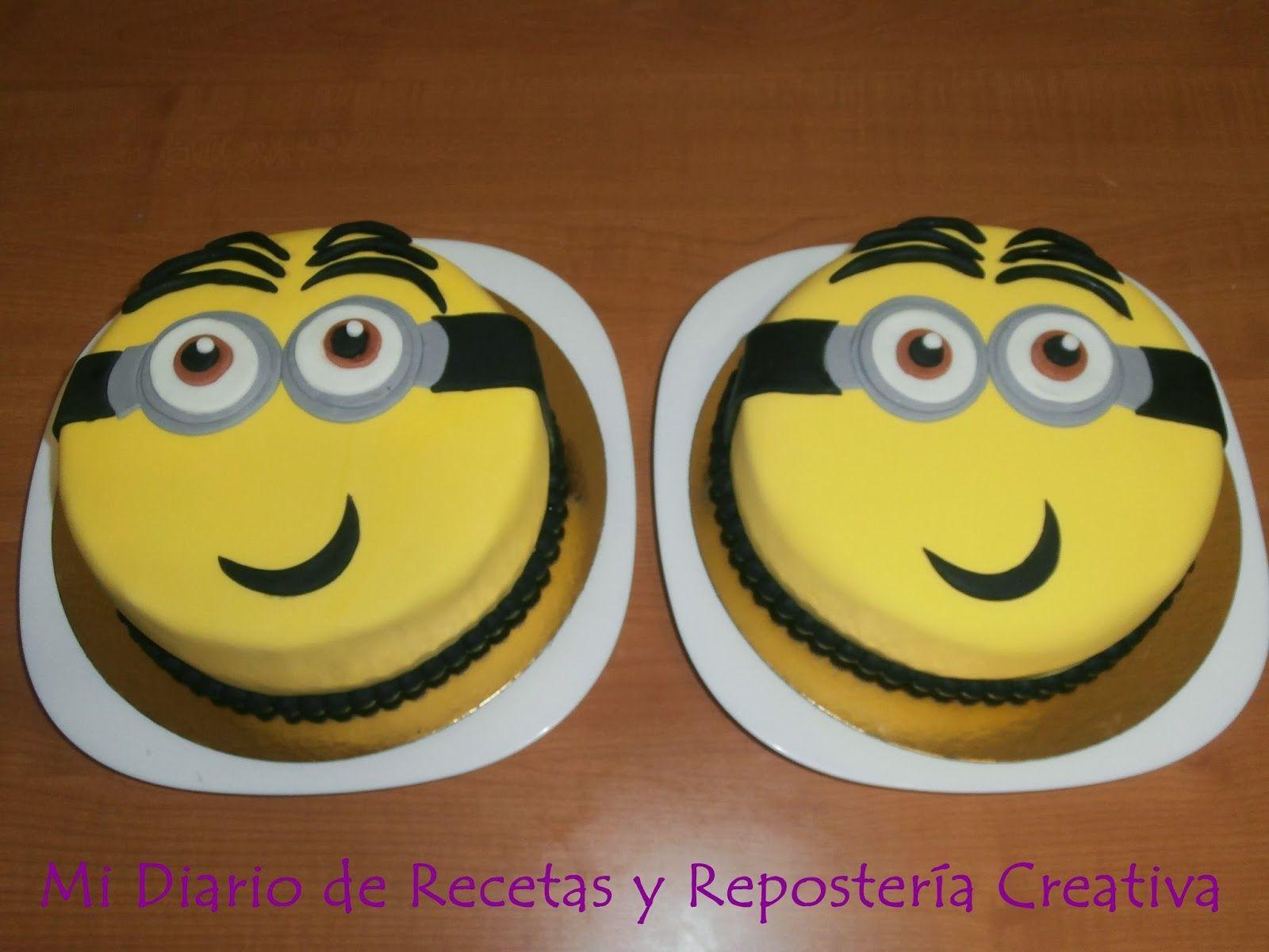 Mi diario de Recetas y Reposteria Creativa: TARTAS DE MINION