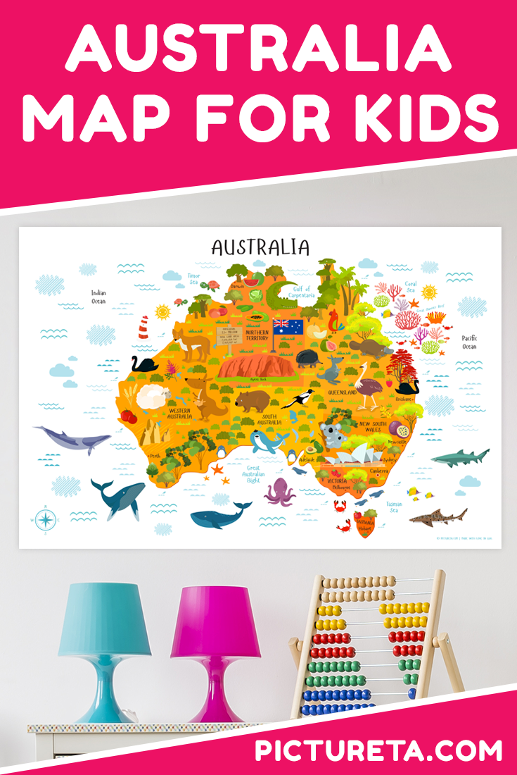 Australia Map Landmarks.Maps For Kids 6 Awesome Maps To Make Learning Geography For Kids