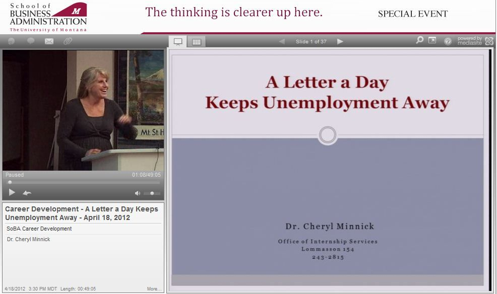 A Letter a Day (keeps unemployment away) Dr Cheryl Minnick - internship thank you letter
