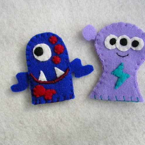 Set of Monster Finger Puppets £6.00