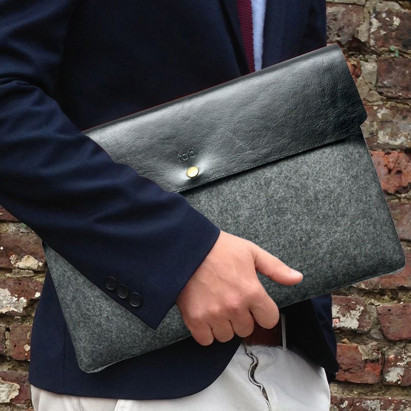 Not Found Riverside Music College Leather laptop bag