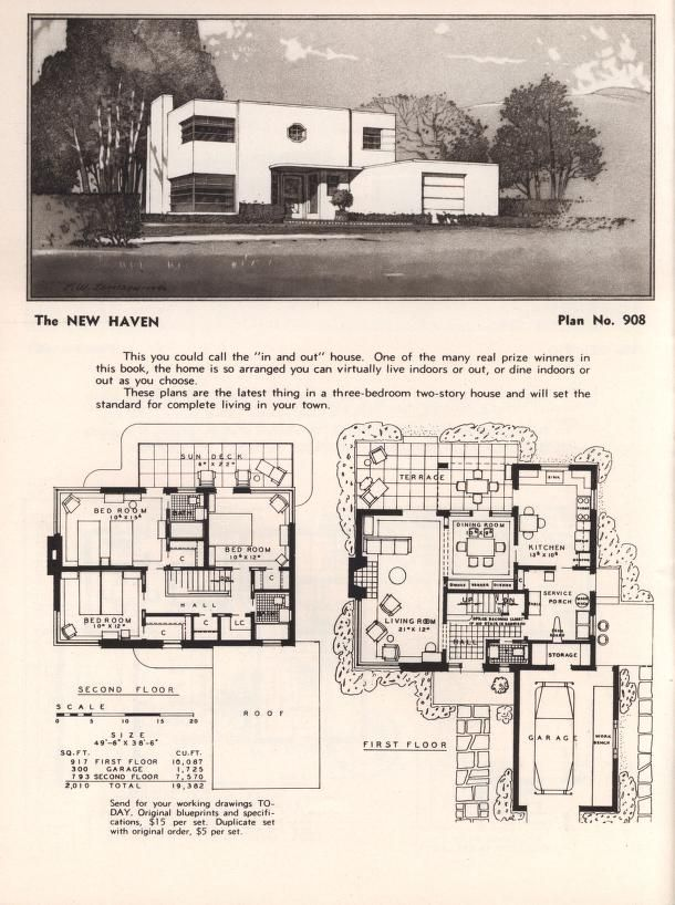 Art deco style house plans