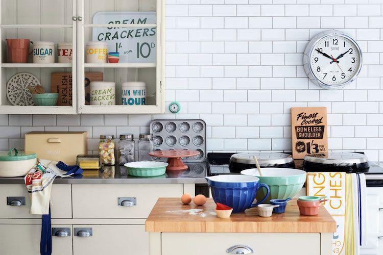 Déco cuisine rétro- 20 idées d\'esprit campagne chic, industriel ou ...