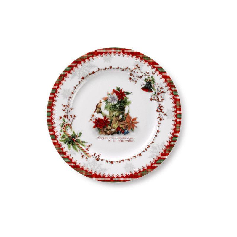 Assiette A Dessert En Porcelaine Ideale Pour Les Fetes De Fin D 039 Annee Med Bilder