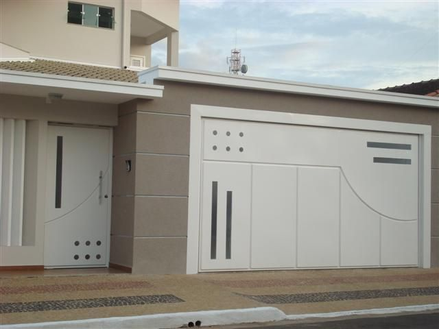 Portoes grande casa pesquisa google fachadas casas for Puertas grandes modernas