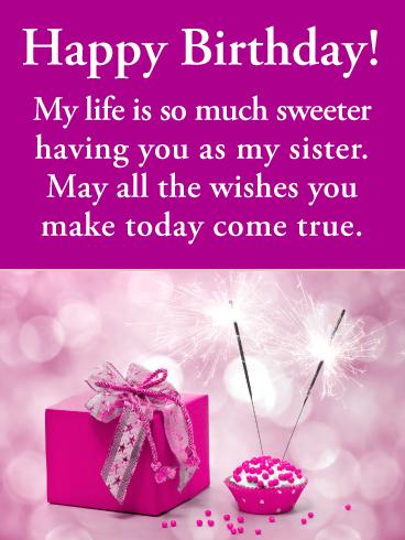 So Much Sweeter Happy Birthday Card For Sister Birthday Greeting Cards By Davia Birthday Wishes For Sister Birthday Greetings For Sister Sister Birthday Card