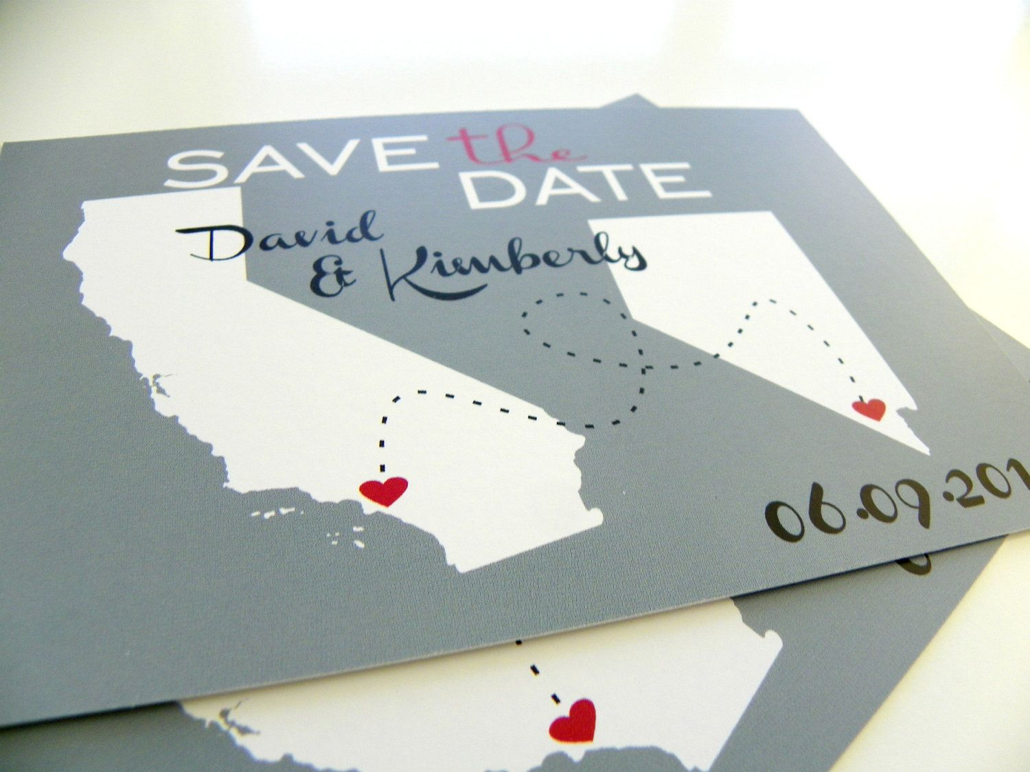 destination wedding save the dates and invitations%0A Save the Date Postcards Custom State Wedding Map Save the Dates  Set of      Love Will Find A Way Series