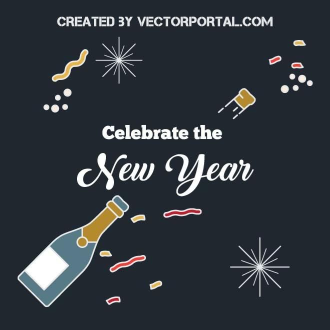 new year background design vector