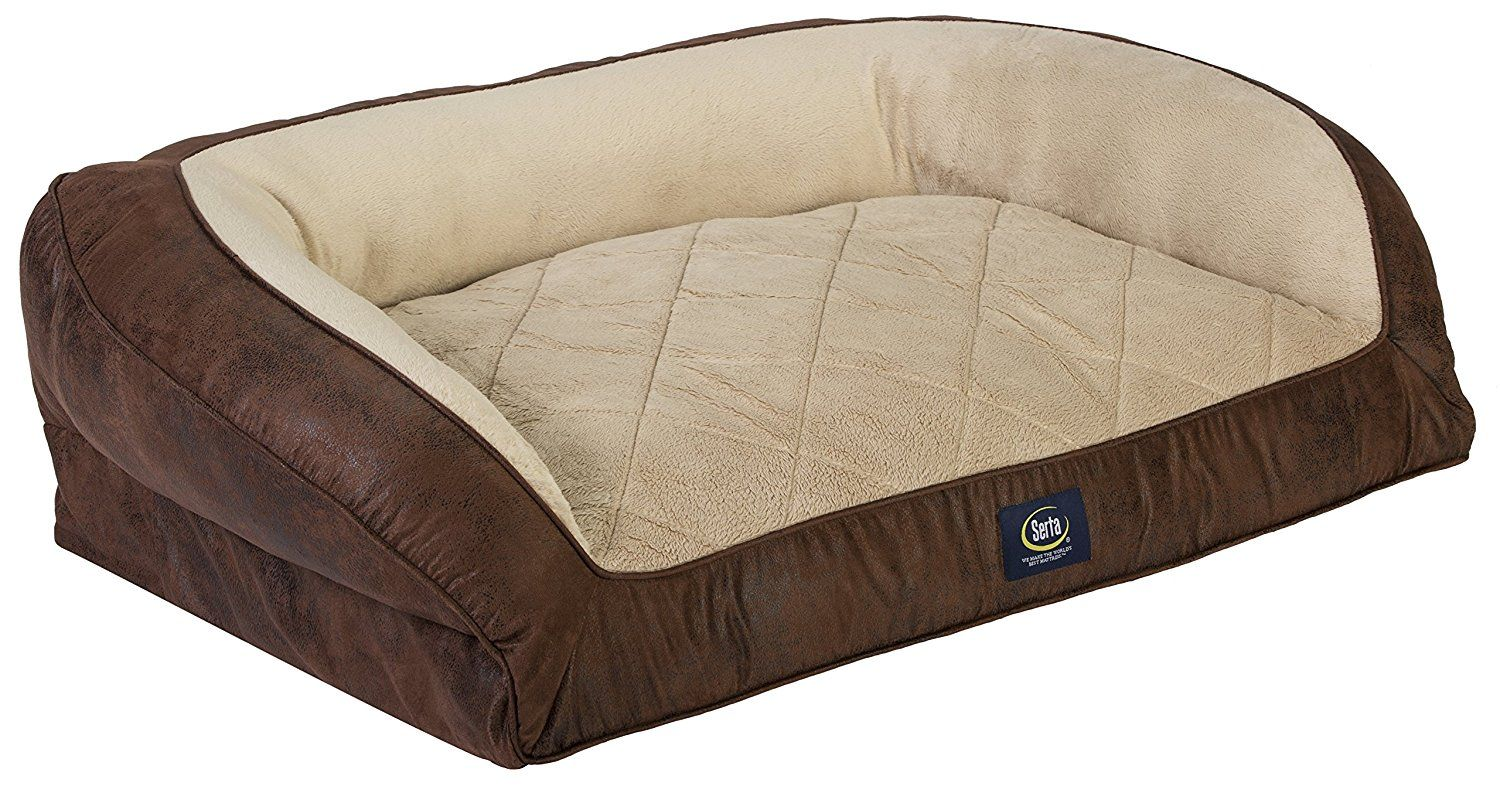Serta Orthopedic Large Quilted Couch Faux Leather *** See