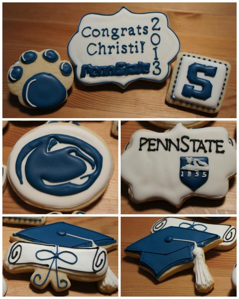 Penn State / Graduation (Decorated Cookies)