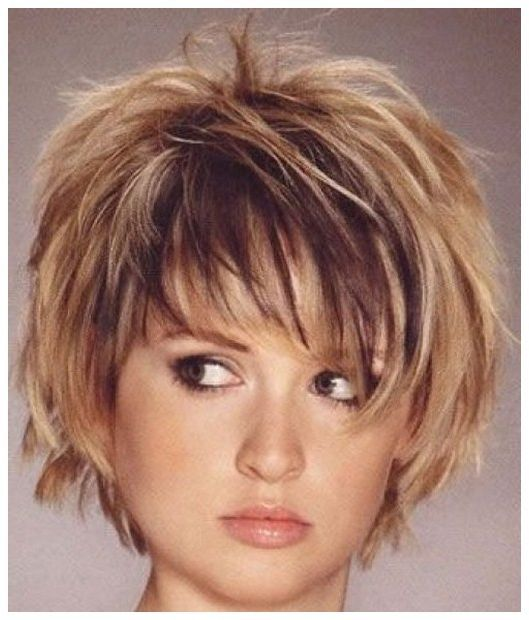 short hairstyles for round faces and thick hair - Short ...