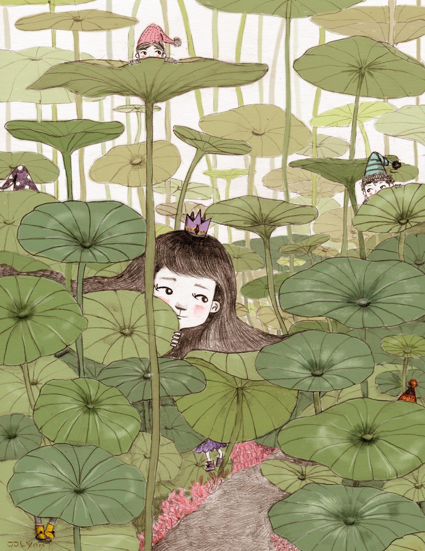 Hide N Seek Kids Book Illustrations Pencil Hidsandseek Fairy