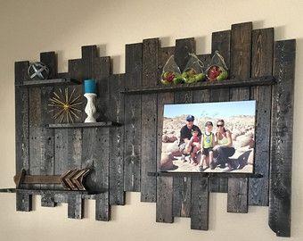Étagère murale en bois, decoration murale bois récupéré, étagère en ...