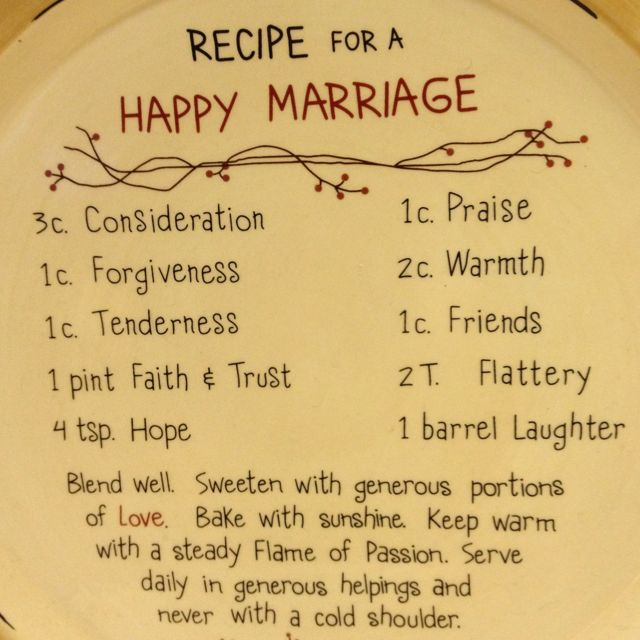 It's just a picture of Fabulous Recipe for a Happy Marriage Printable