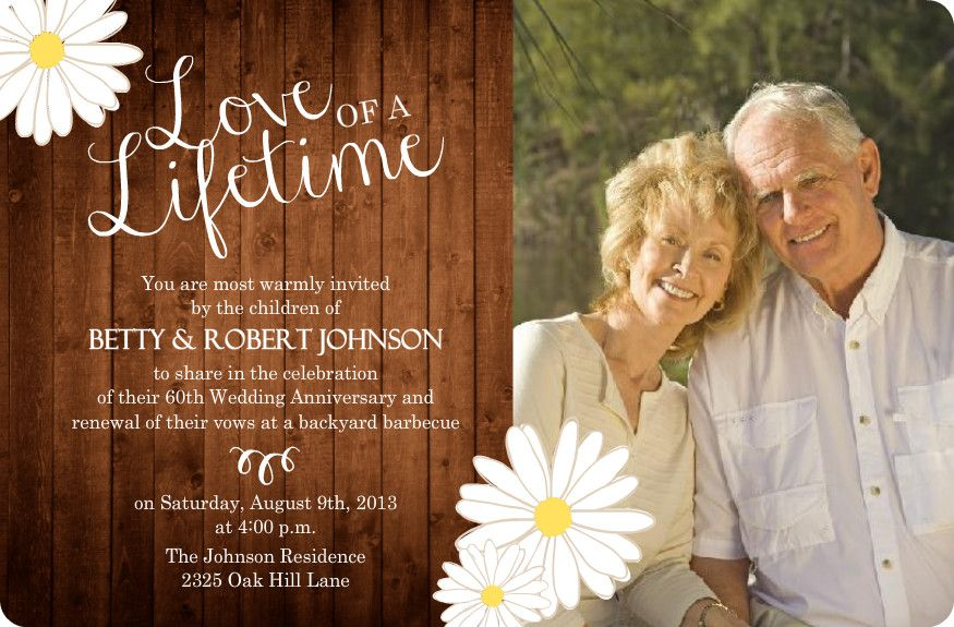 60th wedding anniversary event ideas