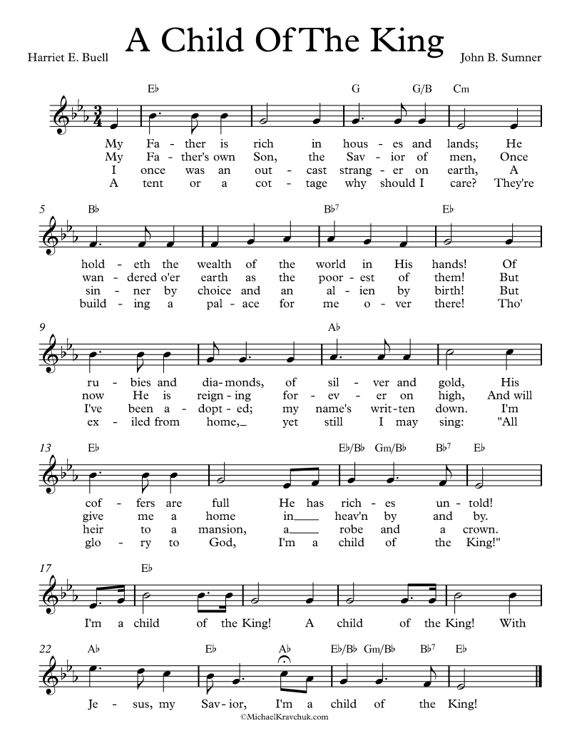 Free lead sheet a child of the king music pinterest child free lead sheet a child of the king hexwebz Image collections