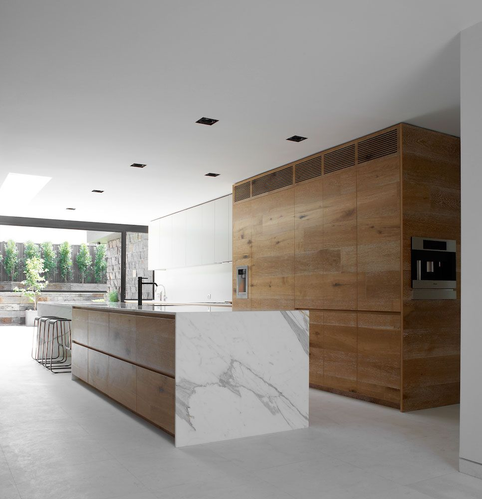 Modern residential architecture all wood kitchen for Modern residential architects