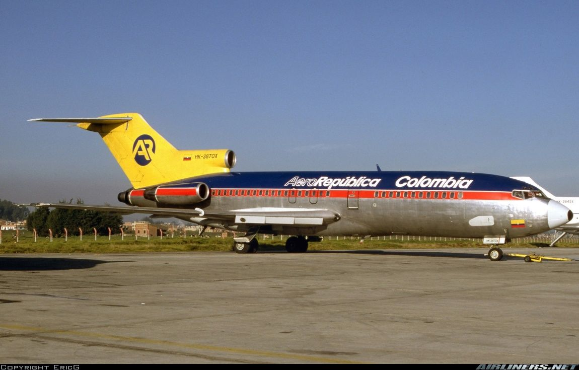 Boeing 727 41 Aero Republica Colombia Aviation Photo 4720177 Airliners Net Boeing 727 Boeing Boeing Aircraft