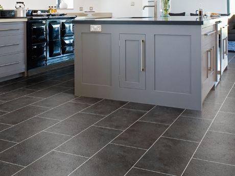 Best Cavalio Conceptline Grey Slate 3053 Slate Floor Kitchen 400 x 300