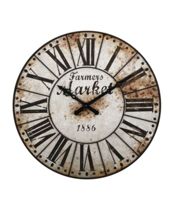 Imax Farmers Market Oversized Wall Clock – White