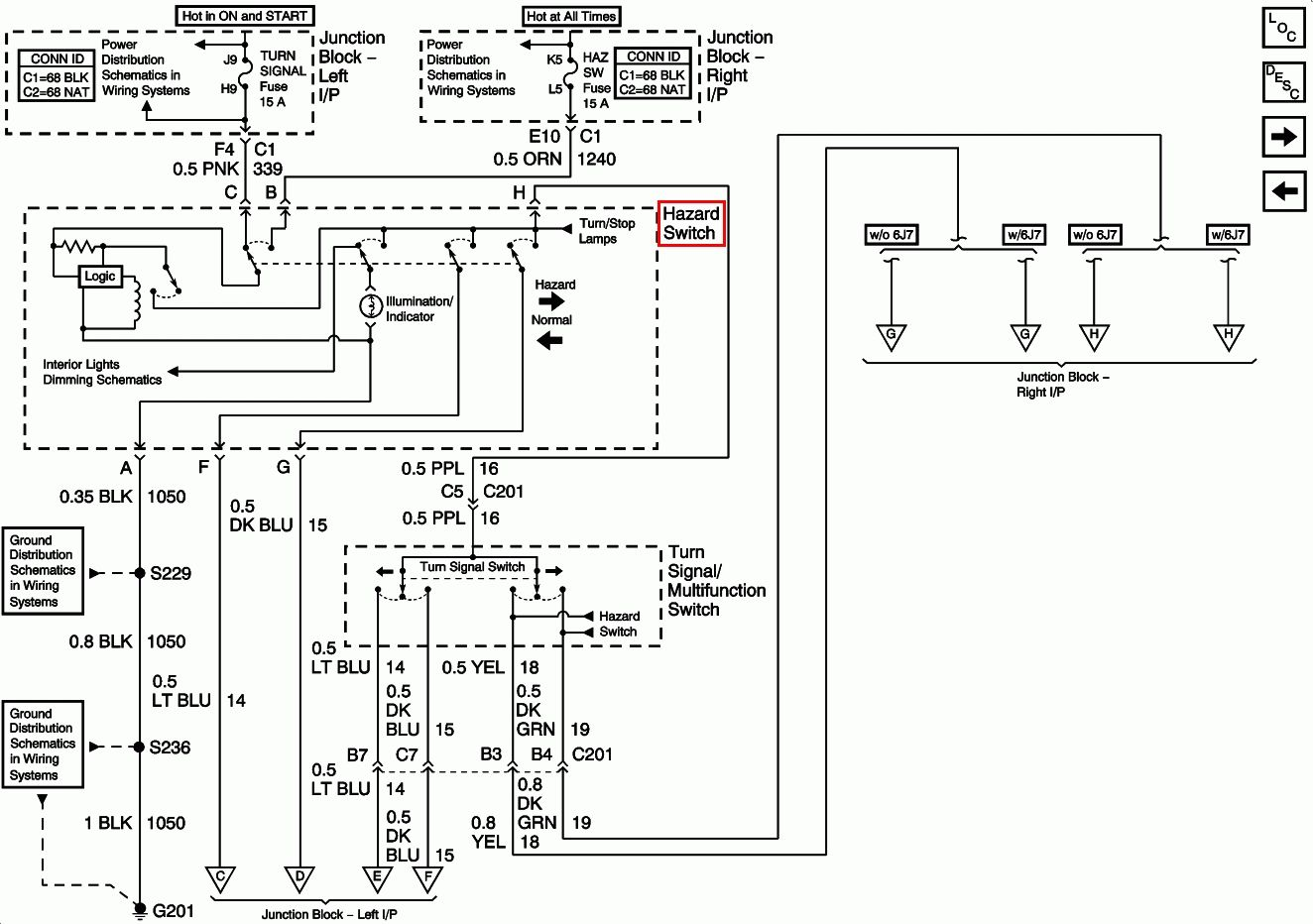hight resolution of 2001 chevy impala turn signal wiring diagram