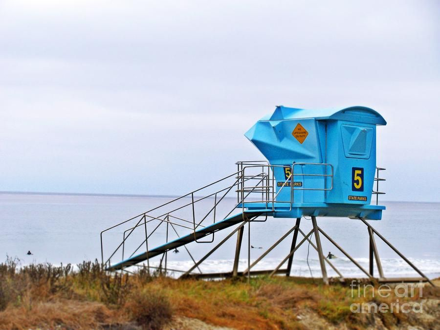 San Clemente State Beach Lifeguard Tower 5 Photograph by