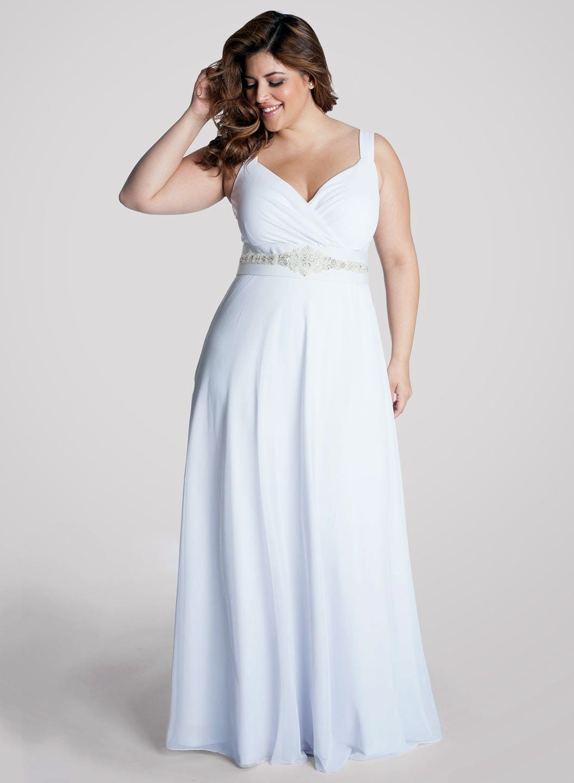 Vestidos para bodas de plata para senoras gorditas