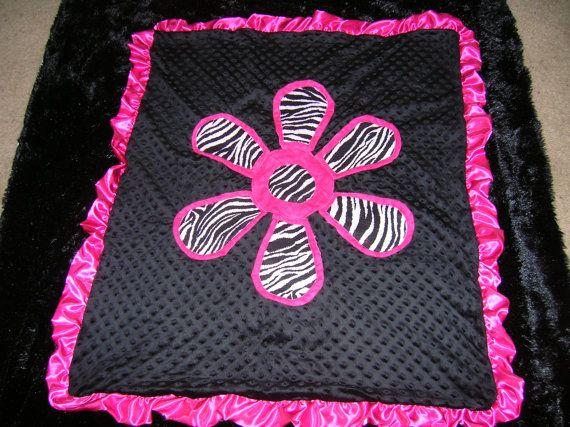 zebra print baby blanket by BabyToddlerKids on Etsy, $25.00