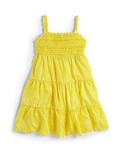 Ralph Lauren - Girl's Crochet Silk-Blend Dress