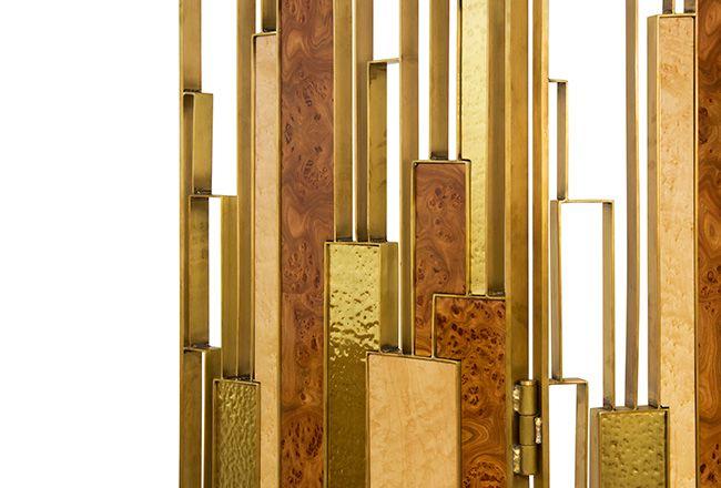 DELPHI Wandschirm bei der Anwendung des gehämmerten Messings gibt ihm ein dramatisches und starkes Finish.Wohndesign | Wohnzimmer Ideen | BRABBU | Einrichtungsideen | Luxus Möbel | wohnideen | www.brabbu.com