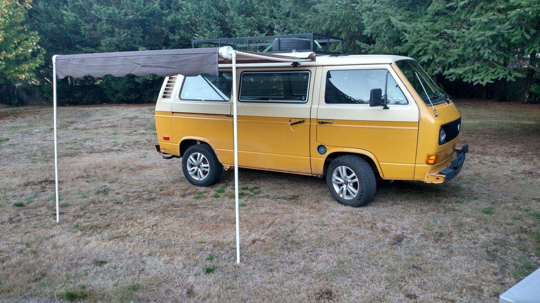 We build a custom awning for our 1980 VW Vanagon; Karmann ...