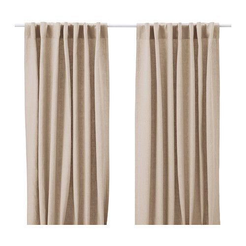 Ikea Aina Beige Pair Of Curtains 100 Linen Window Drapes 2 Panels 98 Long Ikea Dusty Pink Curtains Pink Curtains Ikea Curtains