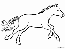 Výsledek obrázku pro kůň omalovánka